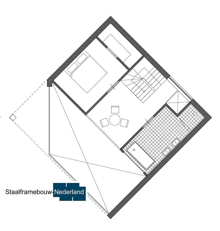 Kubuswoning in moderne ontwerpstijl en met moderne staalframe bouwmethode energiearm tot energieneutraal 3