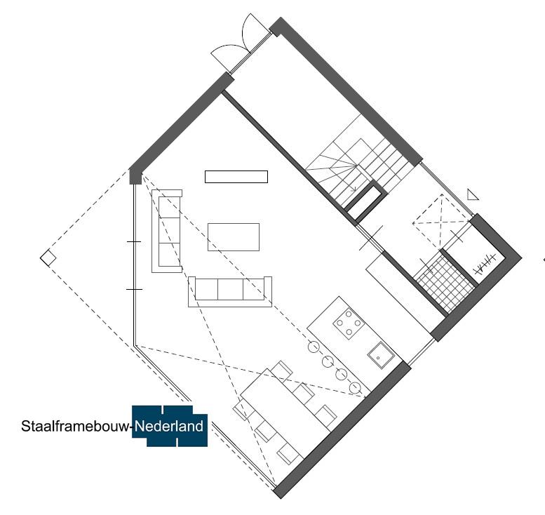 Kubuswoning in moderne ontwerpstijl en met moderne staalframe bouwmethode energiearm tot energieneutraal 5