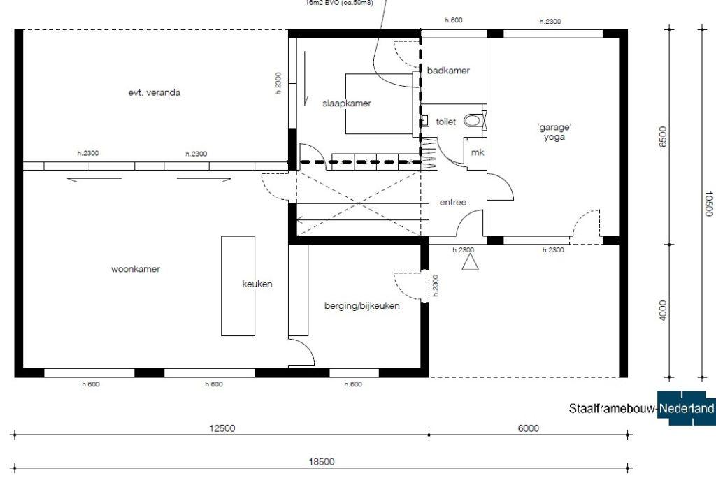 Moderne kubistische villa M122 vloer 1