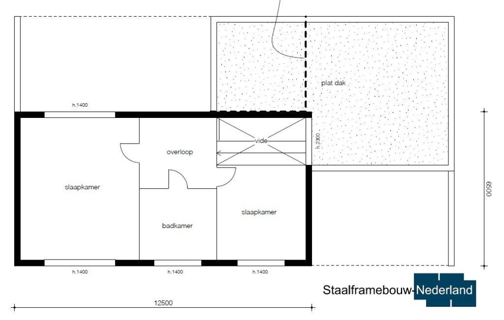 Moderne kubistische villa M122 vloer 2