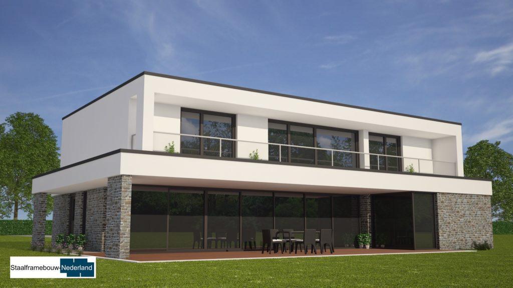 Moderne kubistische villawoning met grote garage 3