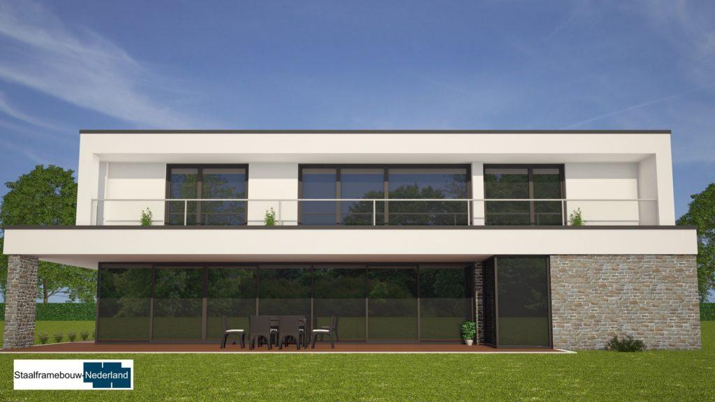Moderne kubistische villawoning met grote garage 4