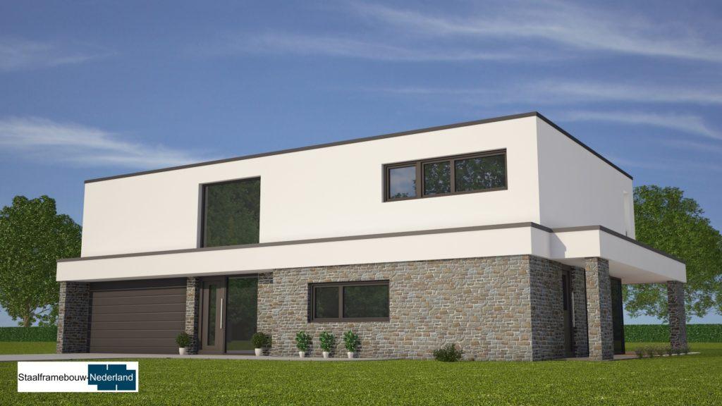 Moderne kubistische villawoning met grote garage 2