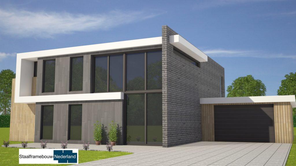 Staalframebouw nederland moderne-kubistische woningen ontwerpen en bouwen M131