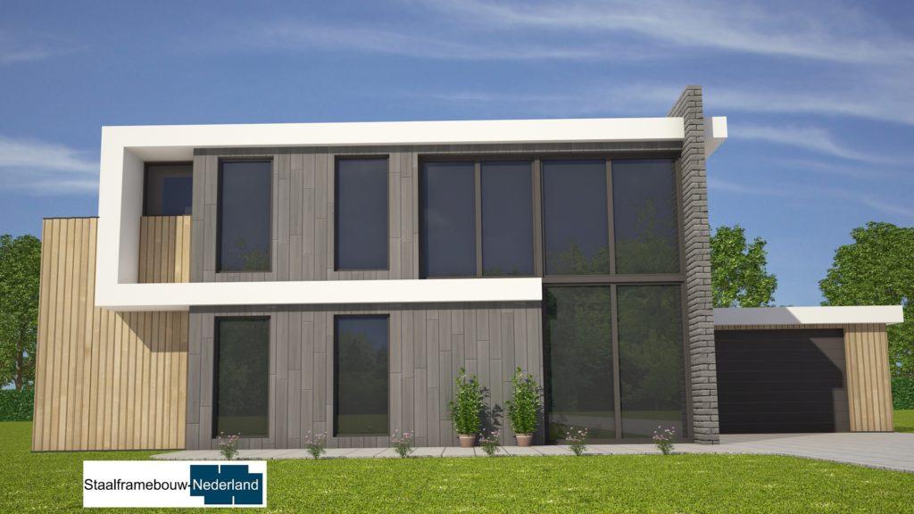 Staalframebouw nederland moderne-kubistische woningen ontwerpen en bouwen M131 1