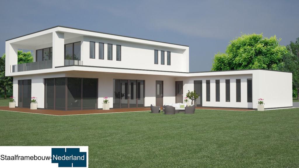 staalframebouw M21 eigentijdse moderne villa 7