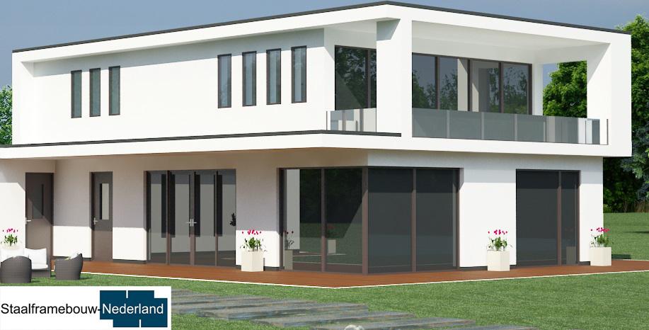 staalframebouw M21 eigentijdse moderne villa 8