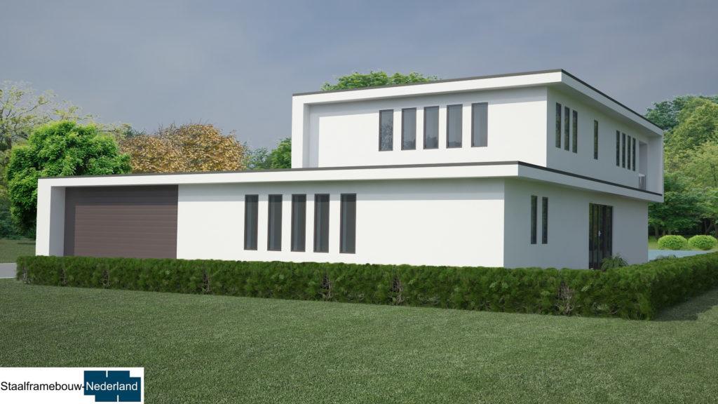 staalframebouw M21 eigentijdse moderne villa 2