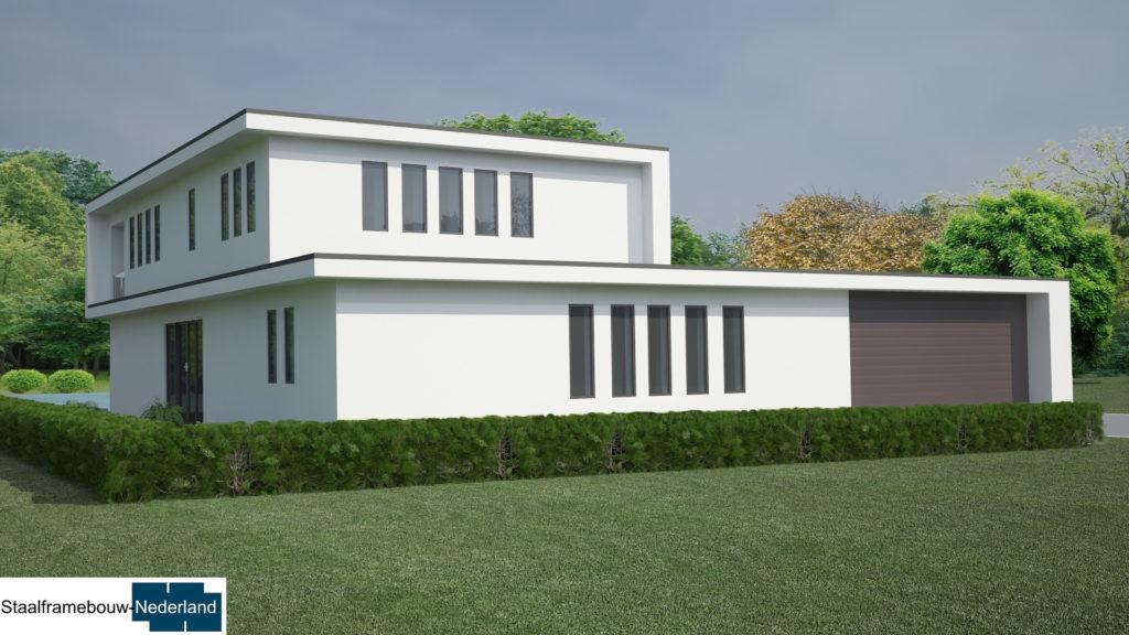 staalframebouw M21 eigentijdse moderne villa 3