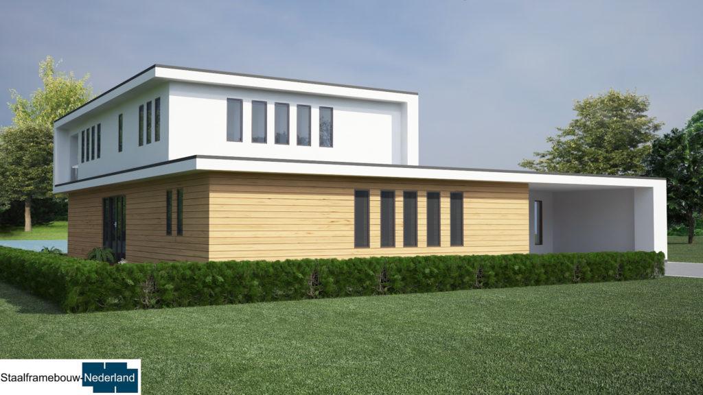 staalframebouw M21 eigentijdse moderne villa 4