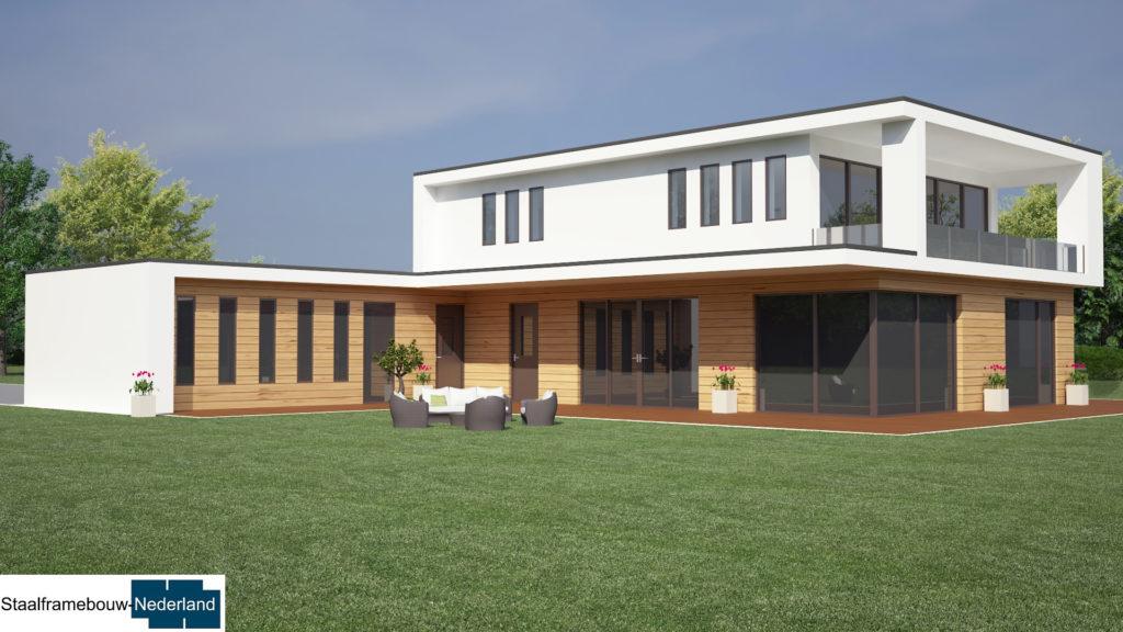 staalframebouw M21 eigentijdse moderne villa 5