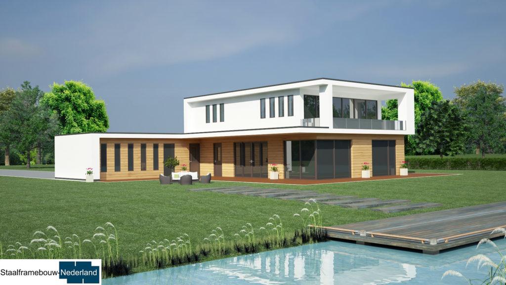 staalframebouw M21 eigentijdse moderne villa 6