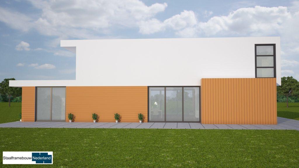 moderne kubistische villa met eel ramen en glas energieneutraal M45 4