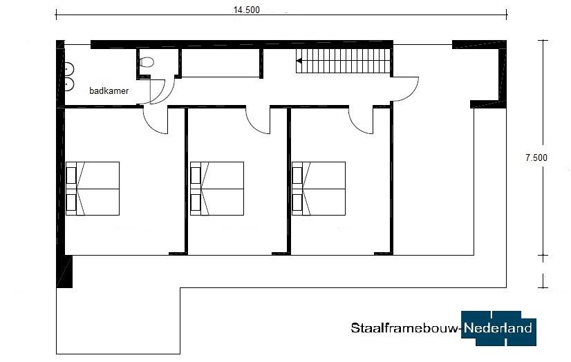 moderne kubistische villa met eel ramen en glas energieneutraal M45 Vloer