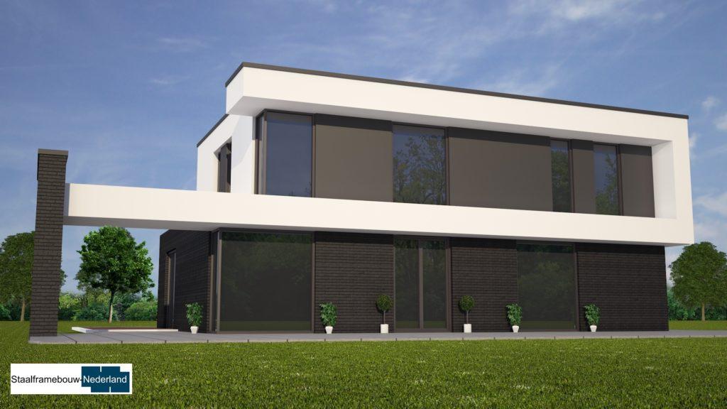 M84 kubistische moderne duurzame energieneutrale woning met veel glas