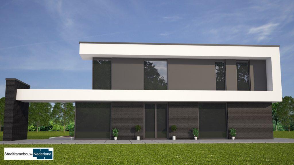 M84 kubistische moderne duurzame energieneutrale woning met veel glas 5
