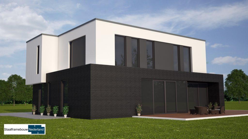 M84 kubistische moderne duurzame energieneutrale woning met veel glas 4