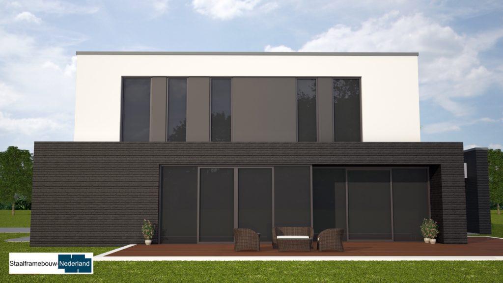 M84 kubistische moderne duurzame energieneutrale woning met veel glas 3