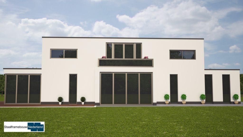 modern kubistisch villaontwerp bauhausstijl villa M79 4