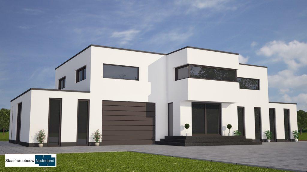 modern kubistisch villaontwerp bauhausstijl villa M79 2