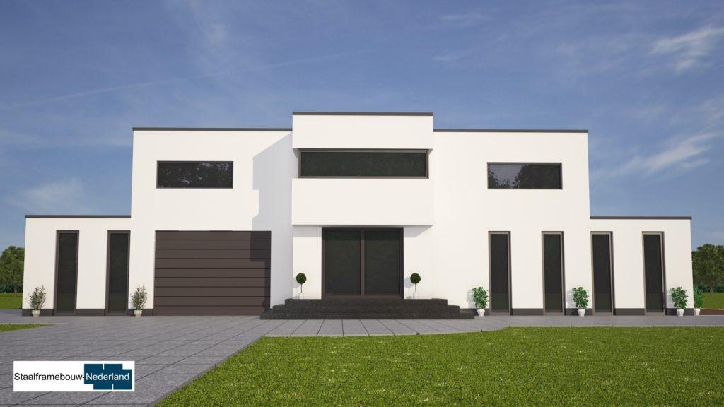 modern kubistisch villaontwerp bauhausstijl villa M79 5