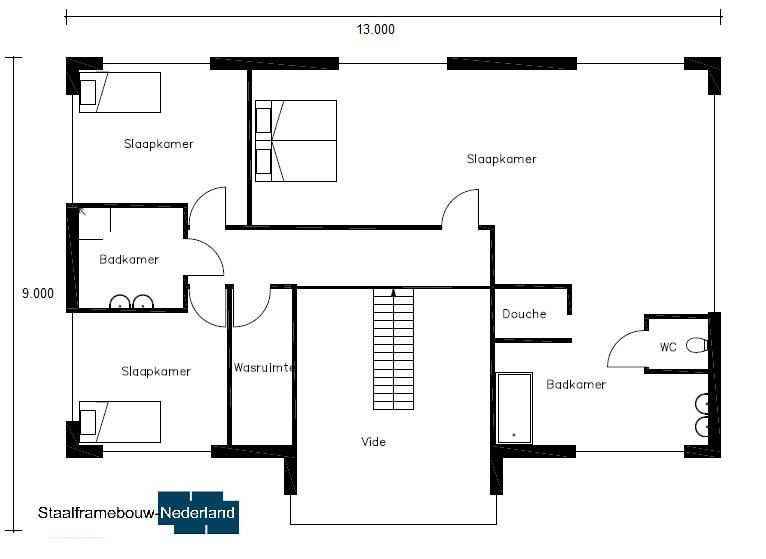 modern kubistisch villa ontwerp bauhausstijl villan M79 Vloer 2
