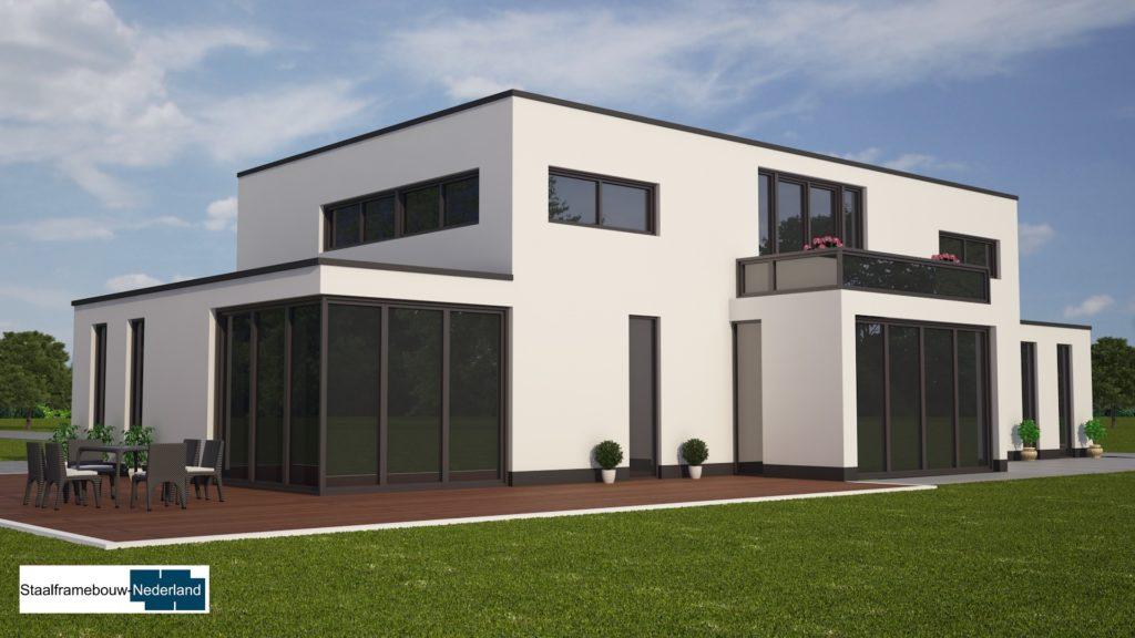 modern kubistisch villaontwerp bauhausstijl villa M79 3